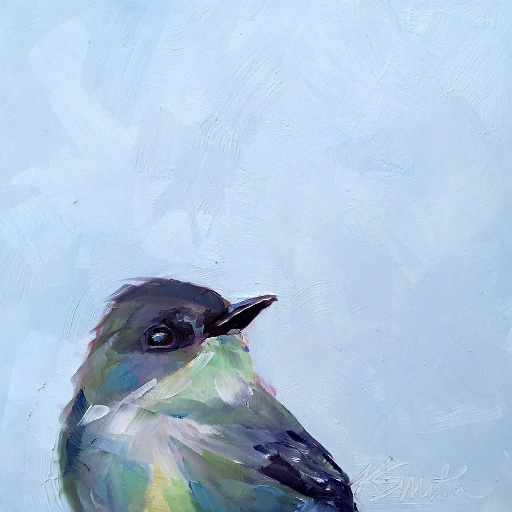"""""""sweet blue"""" original fine art by Kim Smith"""