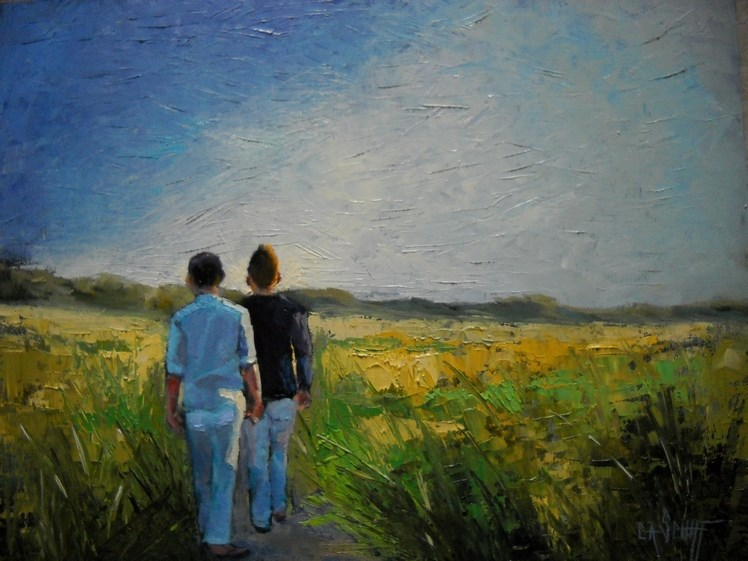 """Figurative Painting, Tomorrow by Carol Schiff, 11x14 Oil, SOLD"" original fine art by Carol Schiff"