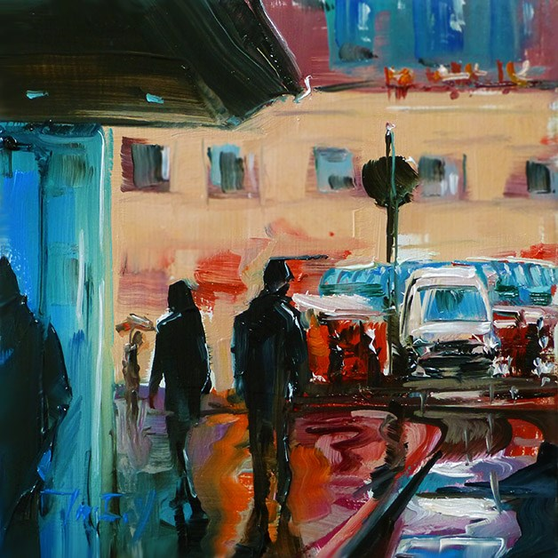 """Am Stadtmarkt"" original fine art by Jurij Frey"