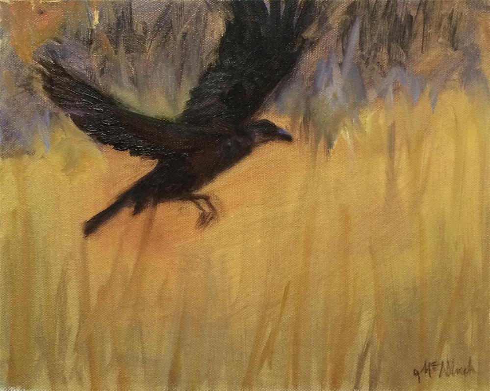 """As the Crow Flies"" original fine art by Michel McNinch"