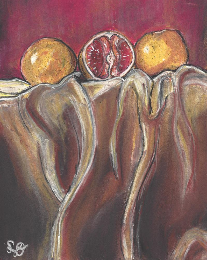 """Red and Orange Blood Orange"" original fine art by Samara Doumnande"