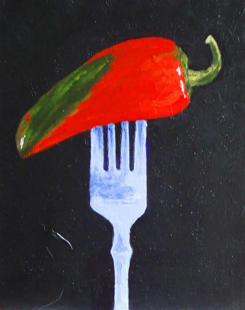 """Pepper Please"" original fine art by karen richardson"