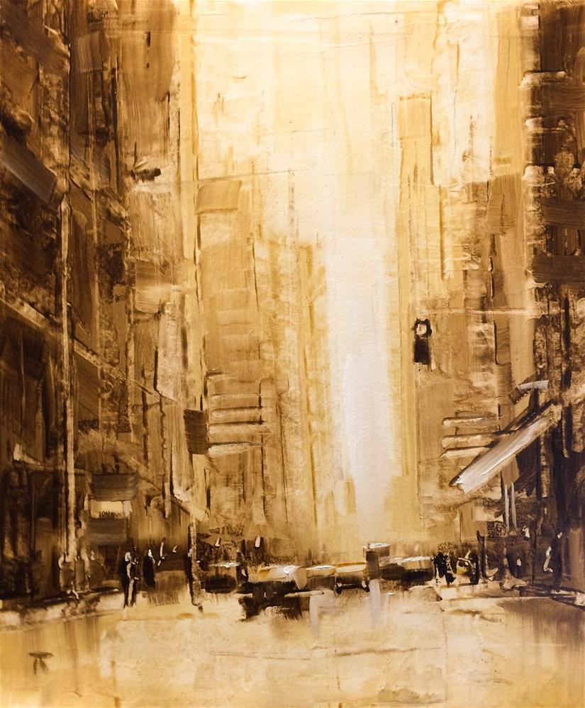 """Street Composition 6"" original fine art by Thomas Ruckstuhl"