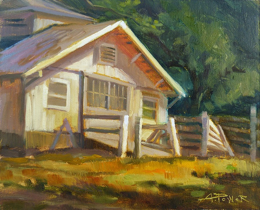 """Used to be Thurman's Place"" original fine art by Anette Power"