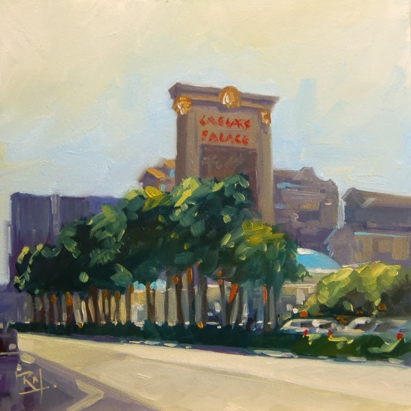 """No 648 Las Vegas Baby No 1"" original fine art by Robin J Mitchell"