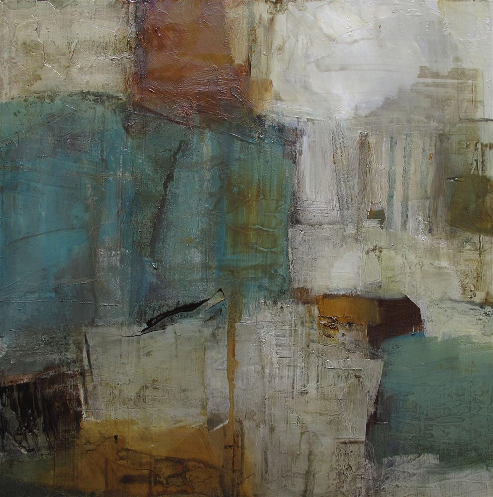 """ABSTRACT Expressionism Original Modern Art Colette Davis 8 x 8 Painting OIL"" original fine art by Colette Davis"