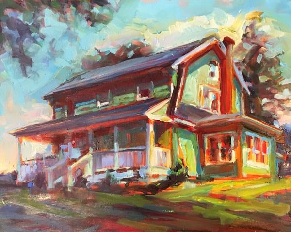 """Green House"" original fine art by Karen Bruson"