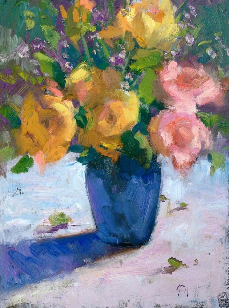 """Winter Roses"" original fine art by Doug Gorrell"