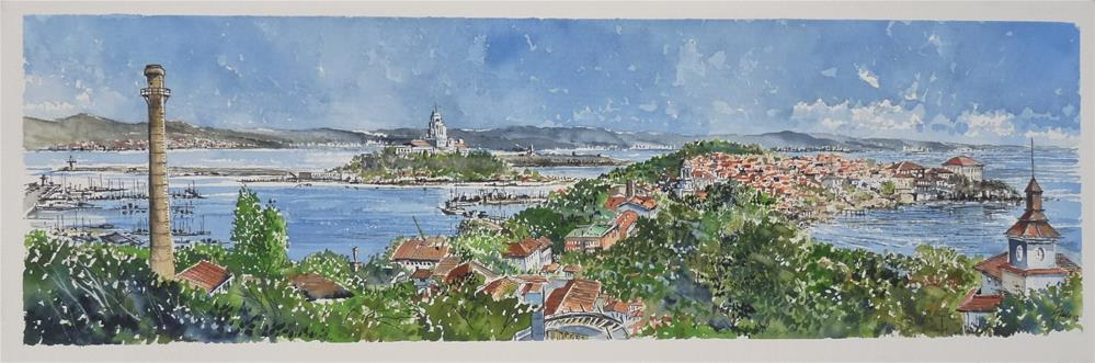 """Panorama from Kalithea's"" original fine art by Martin Stephenson"