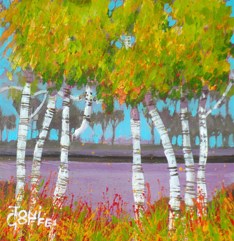 """Autumn River"" original fine art by Toni Goffe"