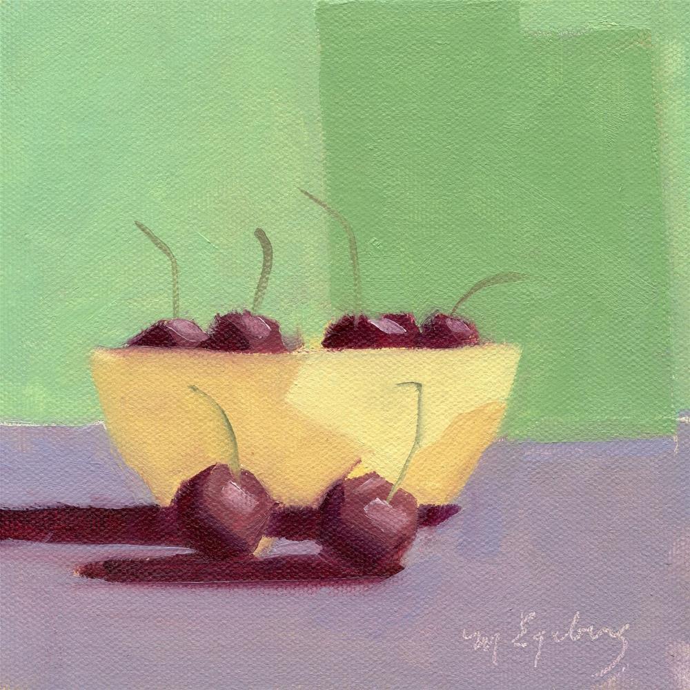"""Bowl Full of Cherries"" original fine art by Mitch Egeberg"