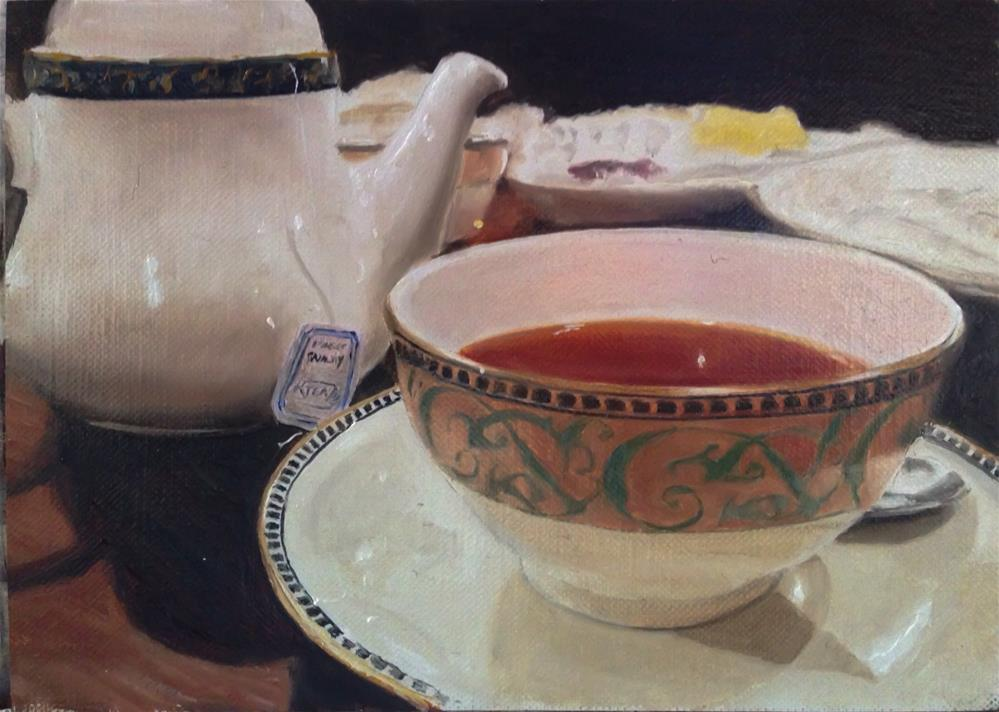 """Tea Time"" original fine art by James Coates"