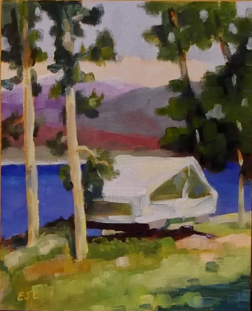 """#26 - Lake Granby Popup"" original fine art by Eric Larson"