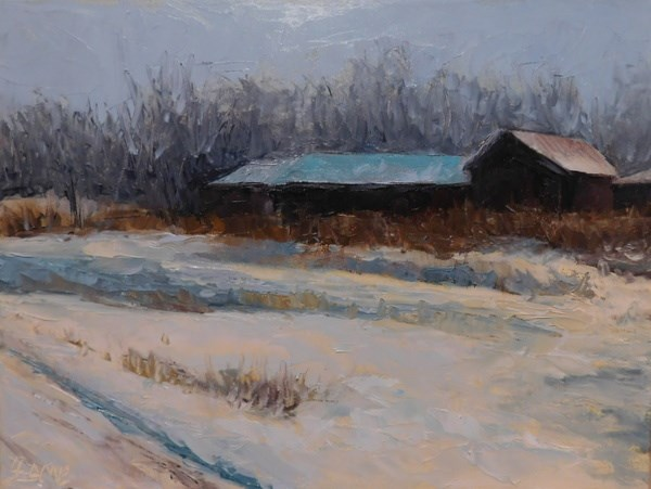 """Snowed In"" original fine art by Lori L. Lamb"