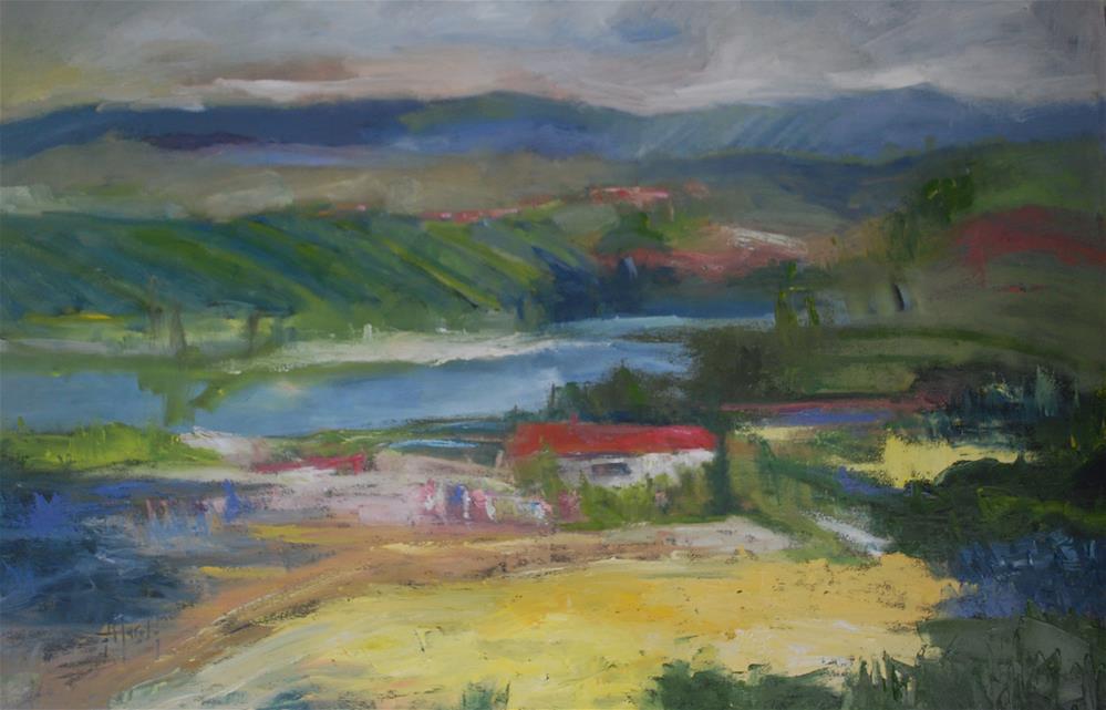 """Southern France"" original fine art by Deborah Harold"