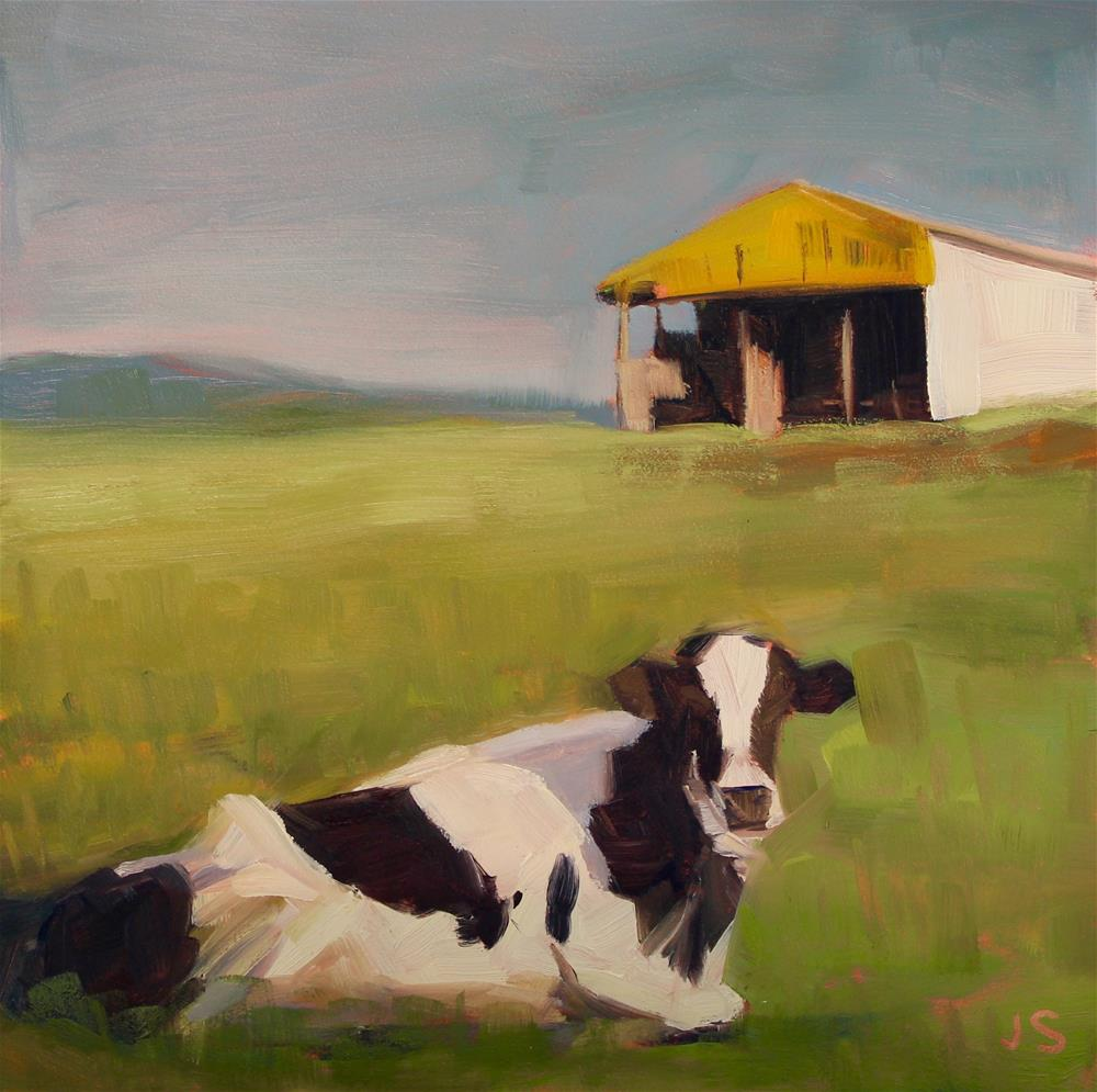 """The Curious Cow"" original fine art by Jamie Stevens"