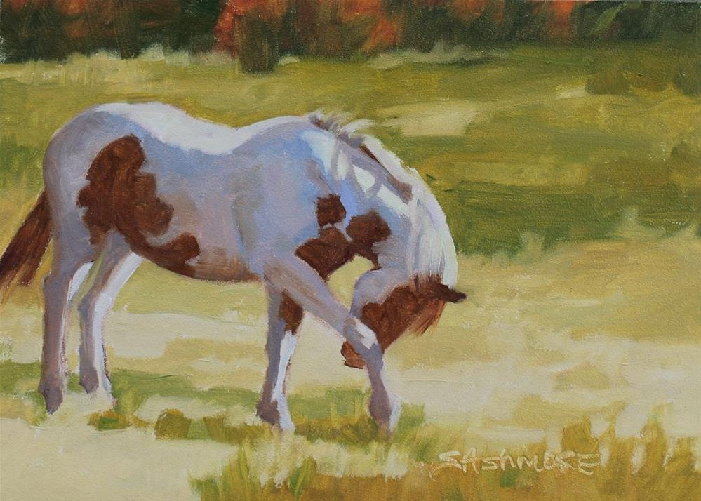 """Scratch that itch"" original fine art by Susan Ashmore"