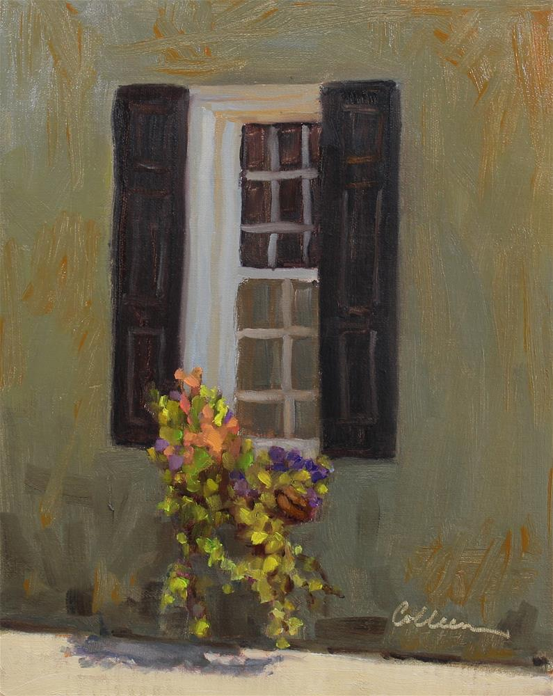 """Just Around the Corner"" original fine art by Colleen Parker"