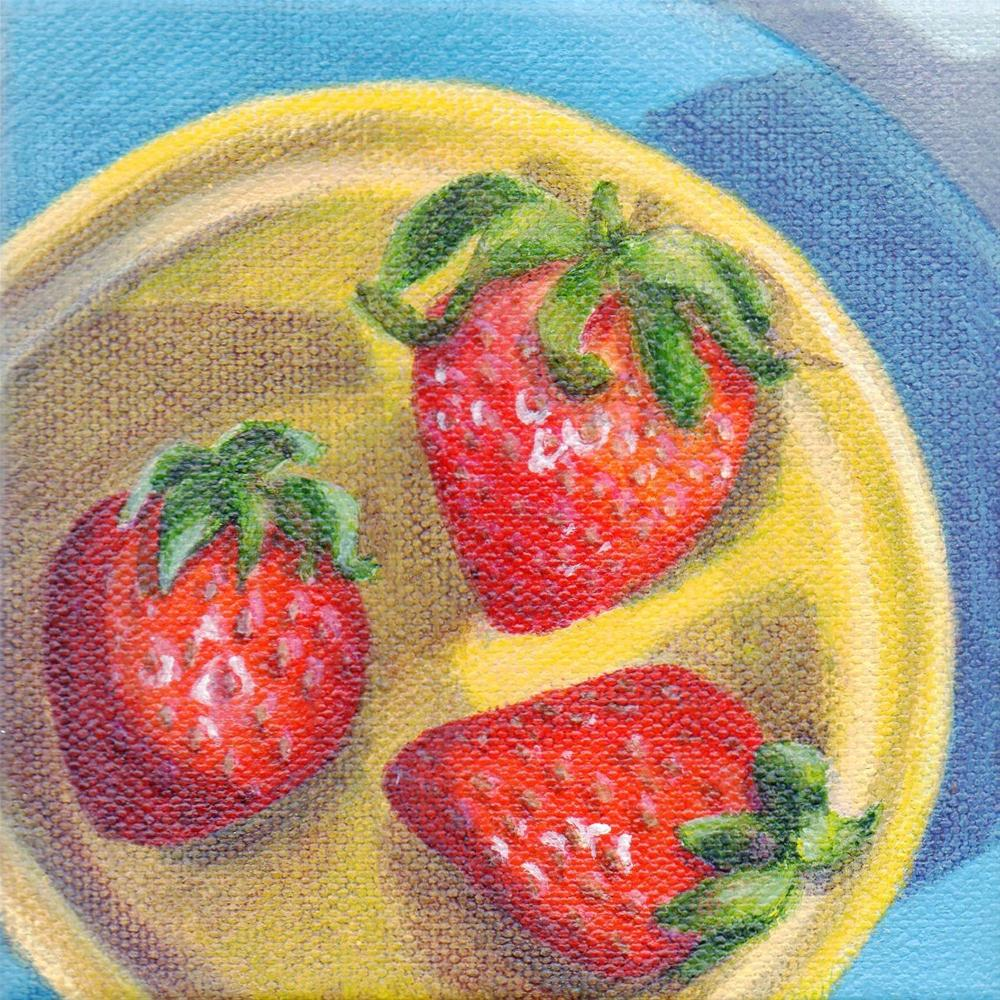 """Berry Bowl"" original fine art by Debbie Shirley"