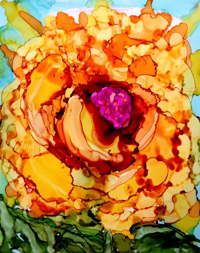 """Orange Crush"" original fine art by Kristen Dukat"