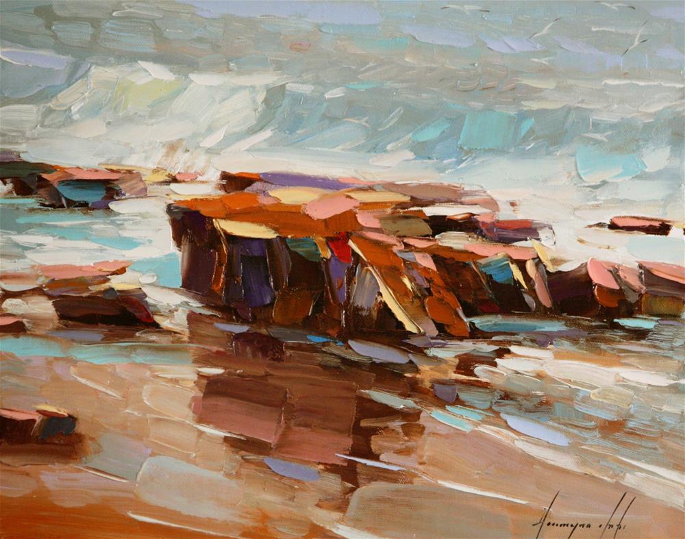 """OCEAN OIL PAINTING"" original fine art by V Yeremyan"