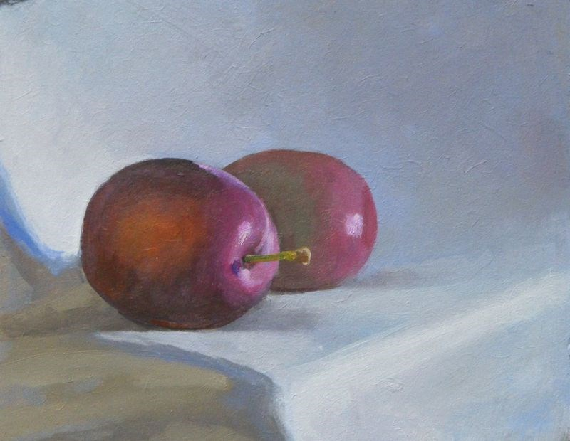 """Plums"" original fine art by Peter Orrock"