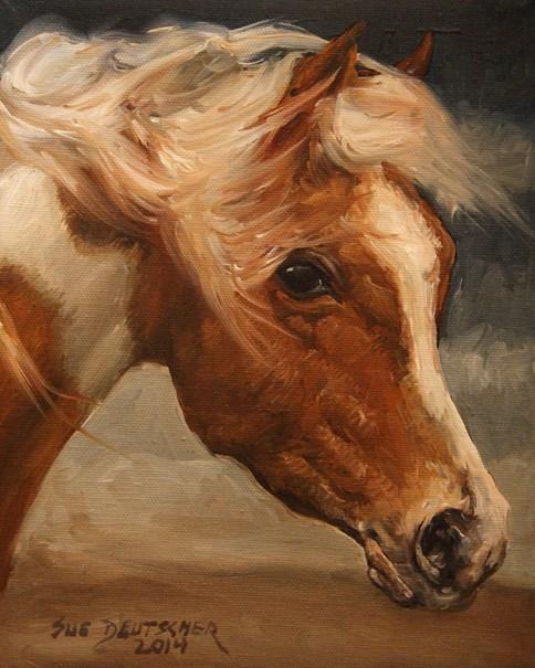 """""""Assateague Pony"""" original fine art by Sue Deutscher"""