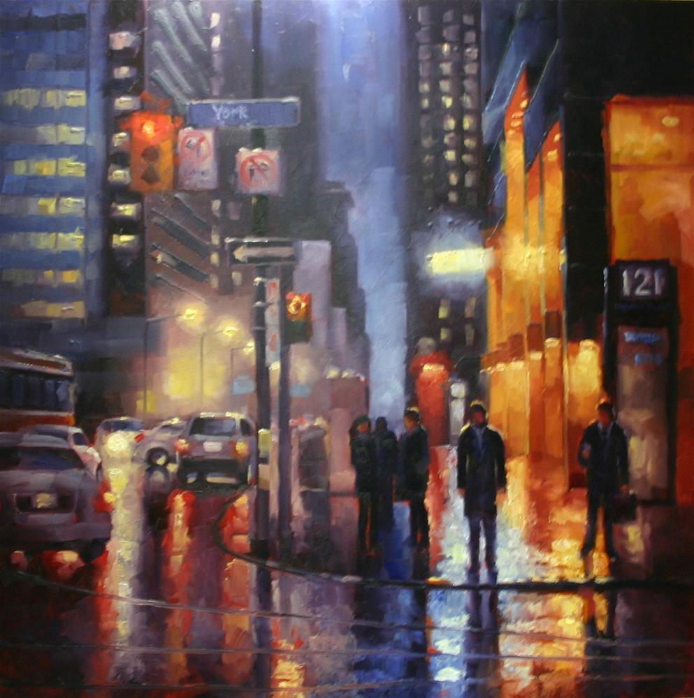 """Suits Head Home, York Street, Toronto"" original fine art by Catherine Jeffrey"