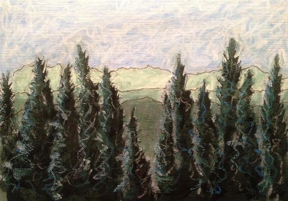 """""""Norway Pines in Norway, Maine"""" original fine art by Dotty  Seiter"""