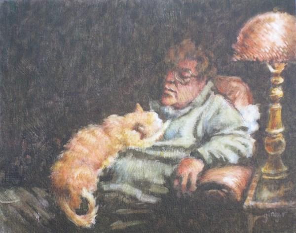 """""""Asleep"""" original fine art by Ginger Pena"""