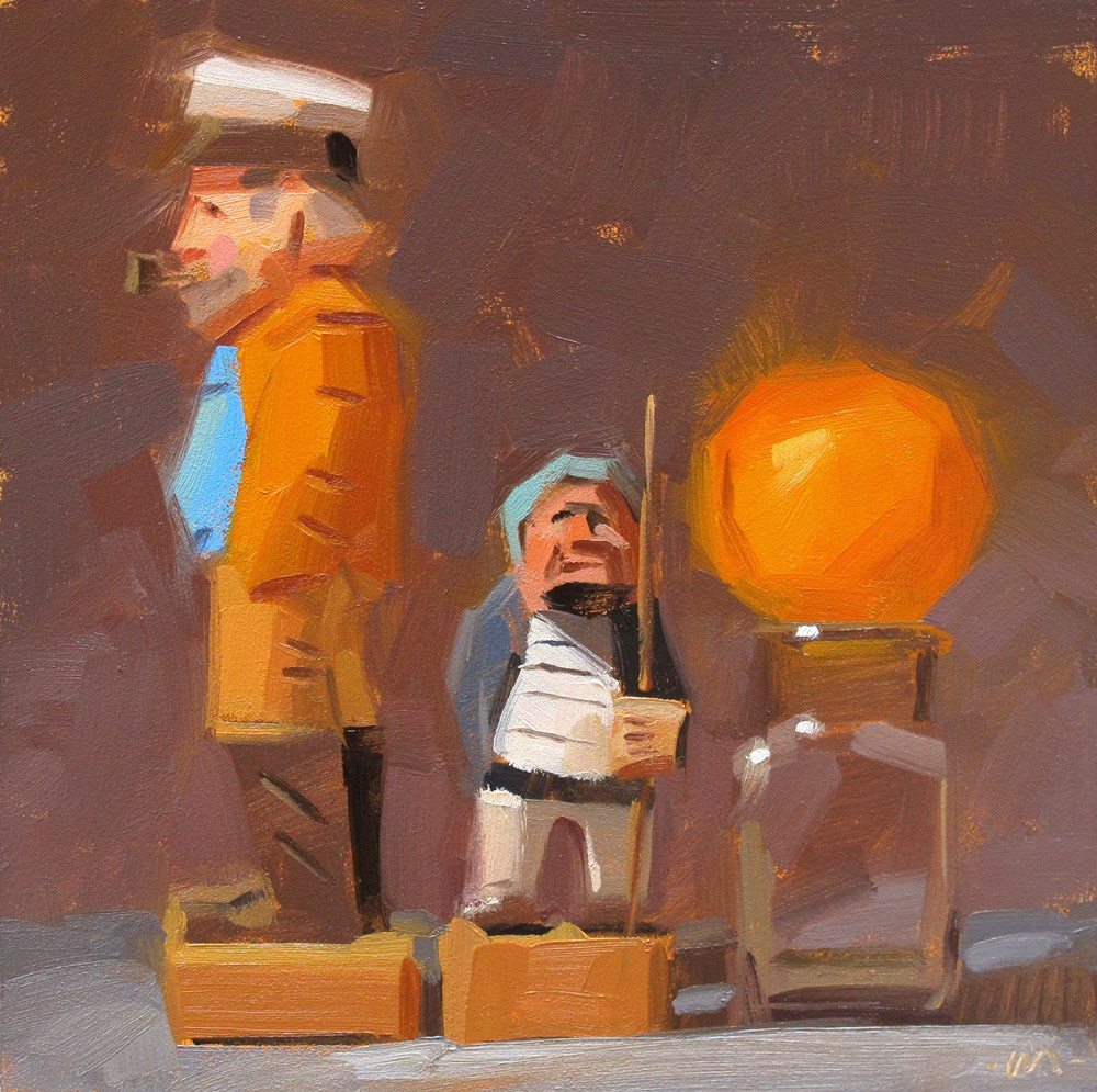 """Oranges Again?"" original fine art by Carol Marine"