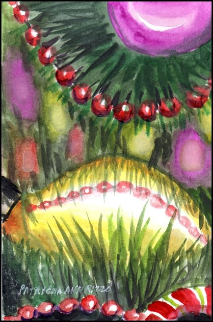 """""""Oh Christmas Tree"""" original fine art by Patricia Ann Rizzo"""