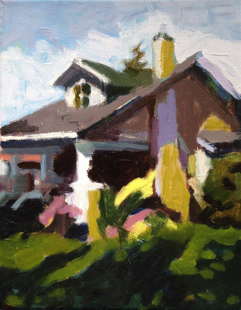 """My Neighbors' House"" original fine art by Pamela Hoffmeister"