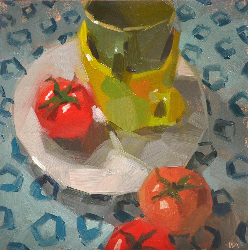 """Enlightened Tomato"" original fine art by Carol Marine"