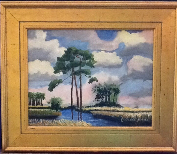 """MEANDERING MARSH"" original fine art by Charlotte Bankhead Hedrick"