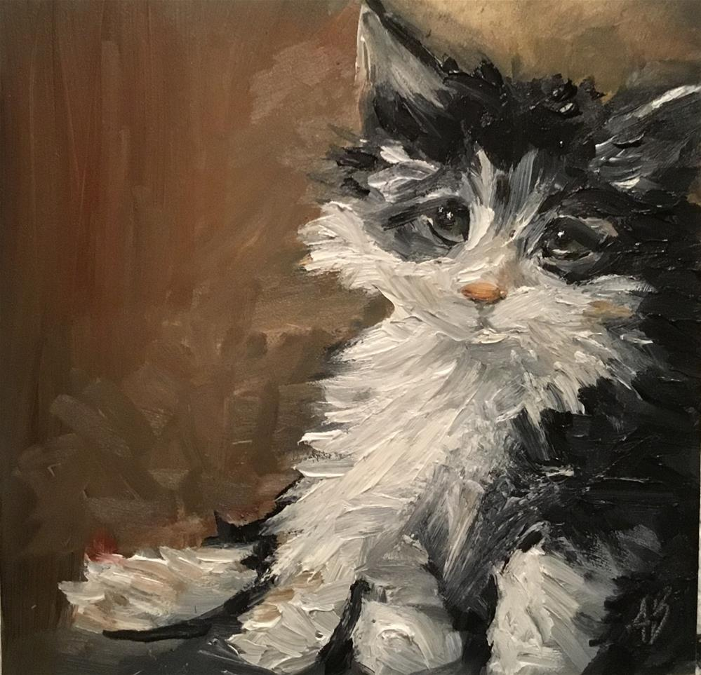 """Lost kitten"" original fine art by Annette Balesteri"