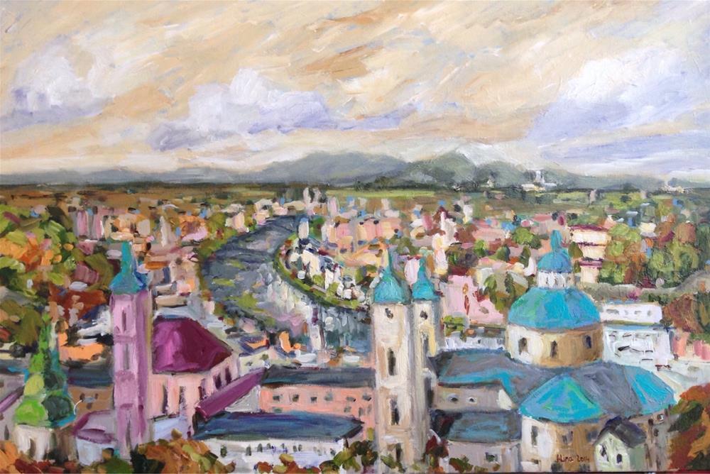 """""""View in Salzburg"""" original fine art by Alina Vidulescu"""