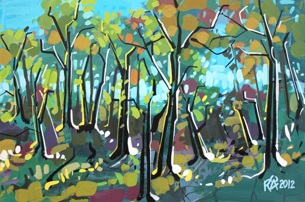 """In the forest 3"" original fine art by Roger Akesson"