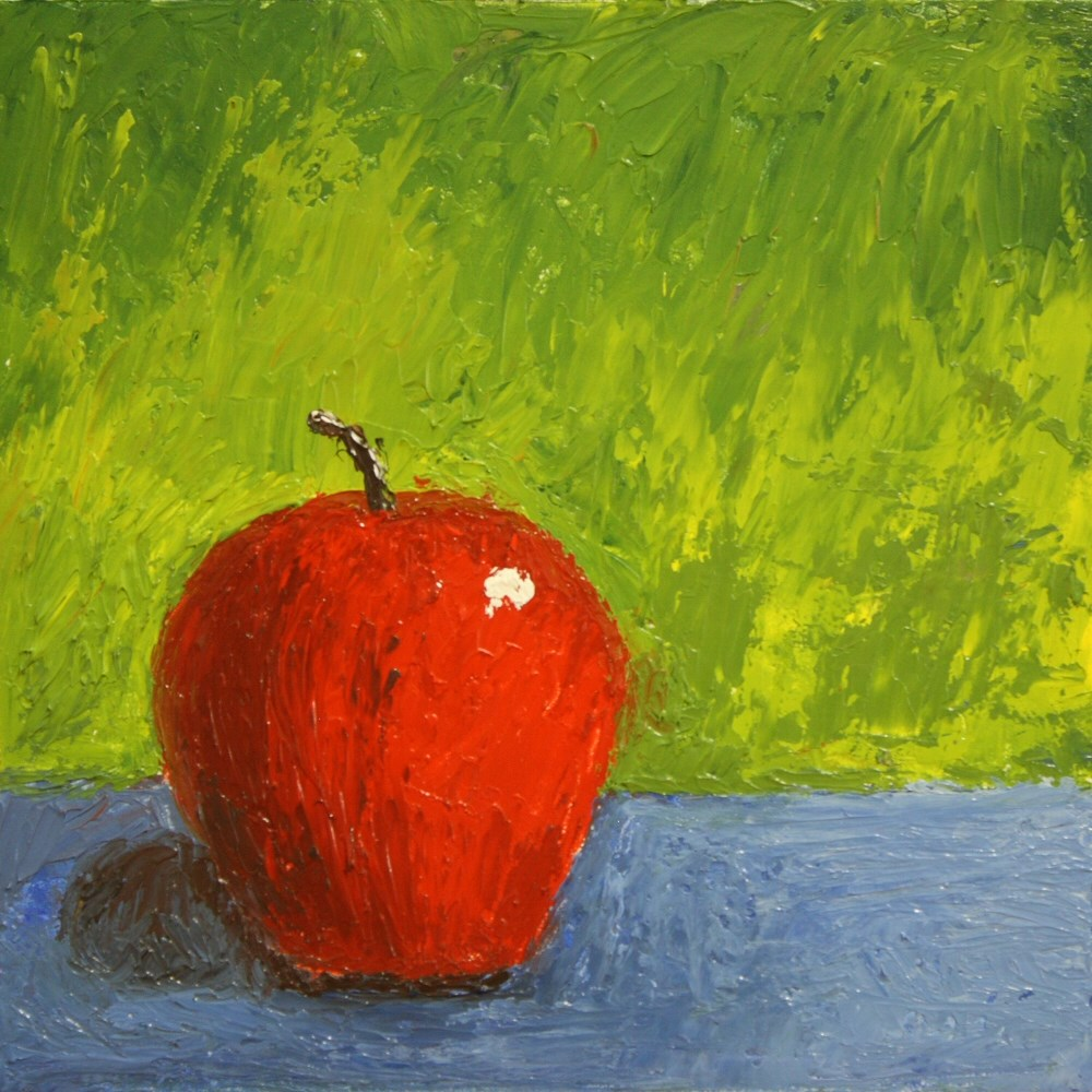 """Kitchen Painting - Apple 005"" original fine art by Dave Casey"
