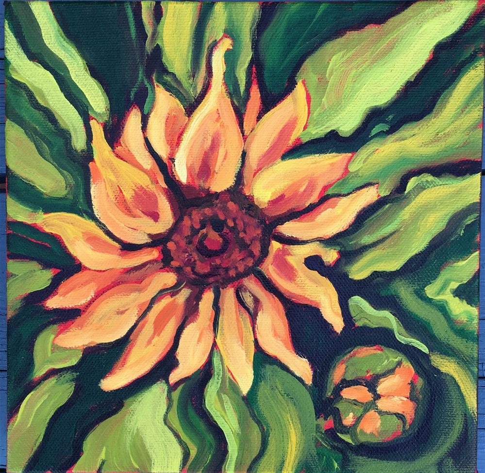 """""""Sunflower"""" original fine art by Robyn Wellman"""