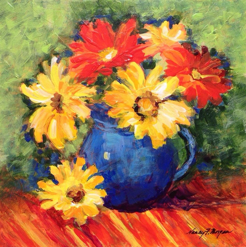 """Cheerful"" original fine art by Nancy F. Morgan"