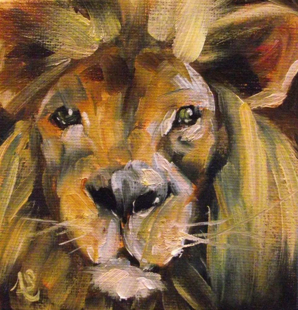 """Big Cat"" original fine art by Angela Sullivan"