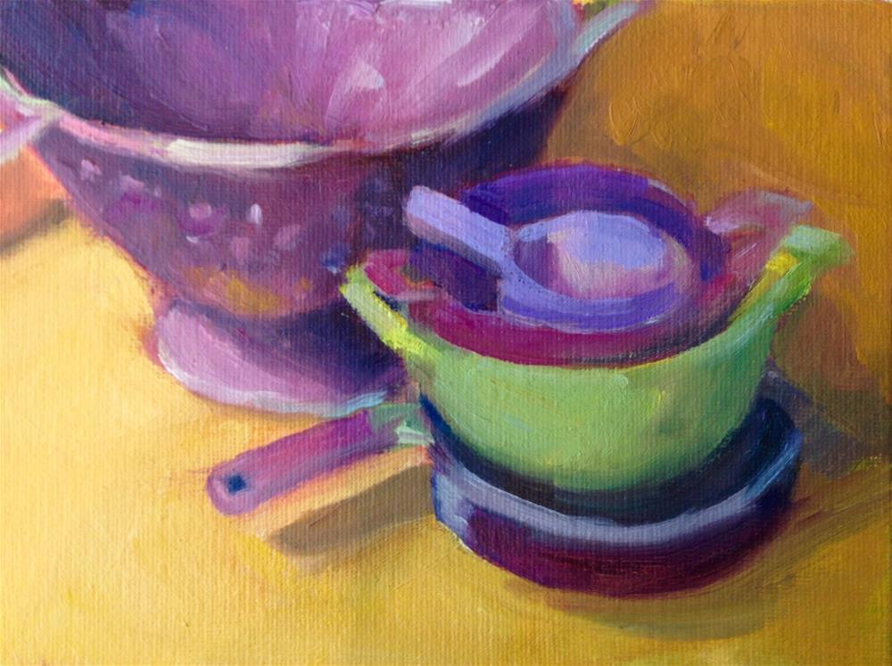"""Jeannie's Purple Mania"" original fine art by Marcia Bergtholdt"