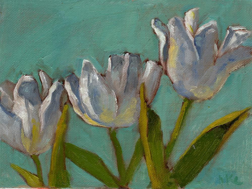 """White Petals Spreading"" original fine art by Marlene Lee"