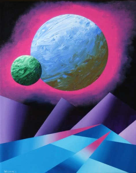 """Mark Webster - Planet X Abstract Landscape Painting"" original fine art by Mark Webster"