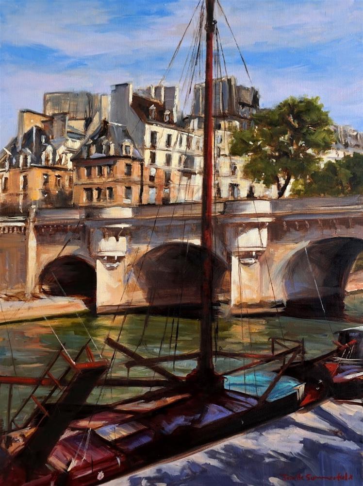 """Pont Neuf"" original fine art by Jonelle Summerfield"