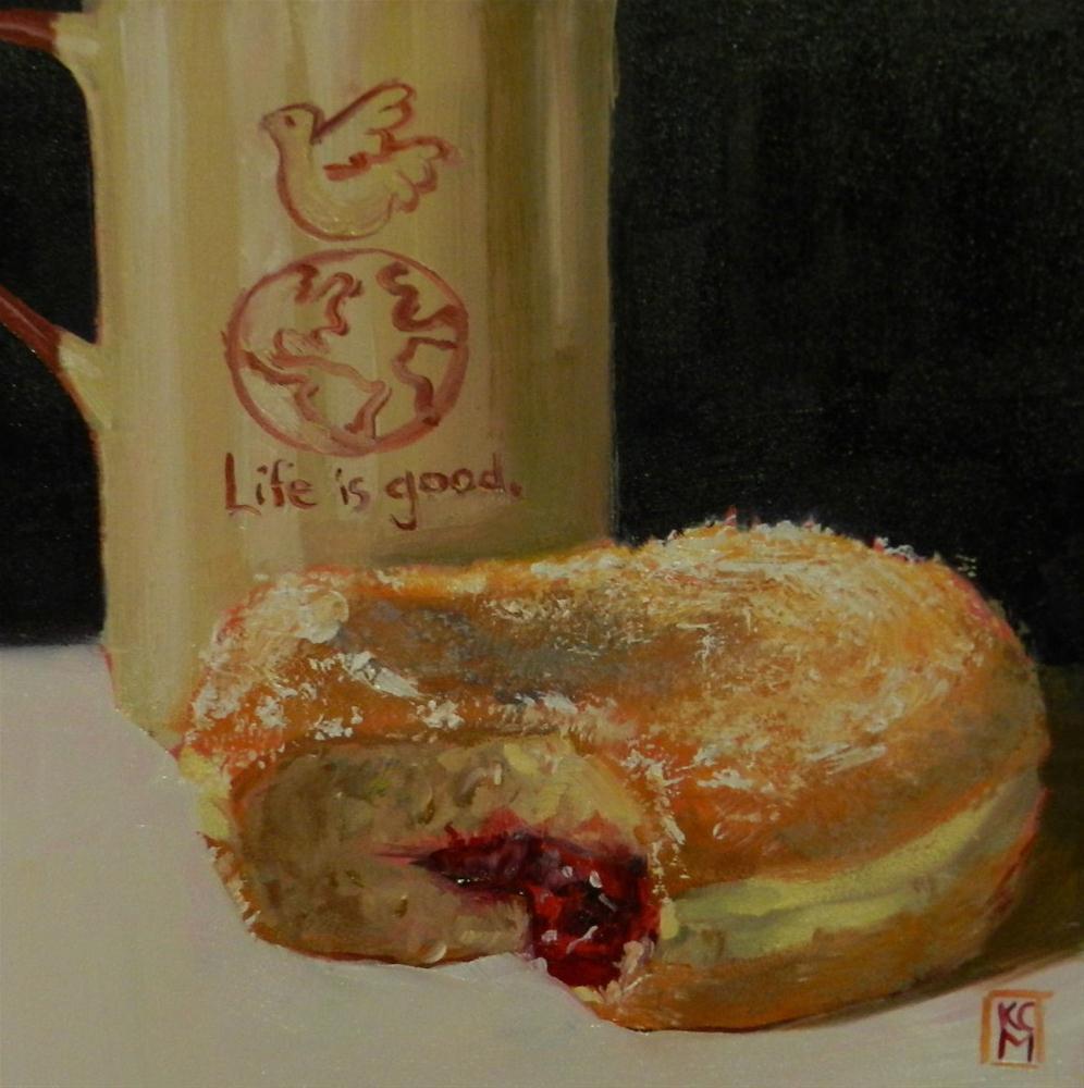 """Isn't Life Good?  Painting Commission by Kelley MacDonald"" original fine art by Kelley MacDonald"