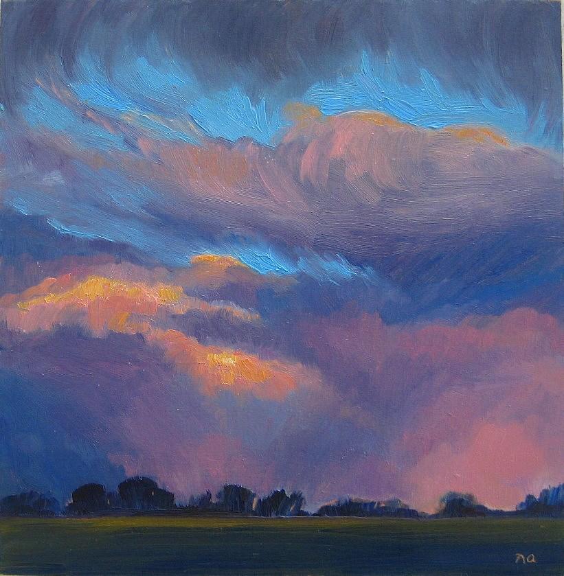 """Afterglow"" original fine art by Nicki Ault"