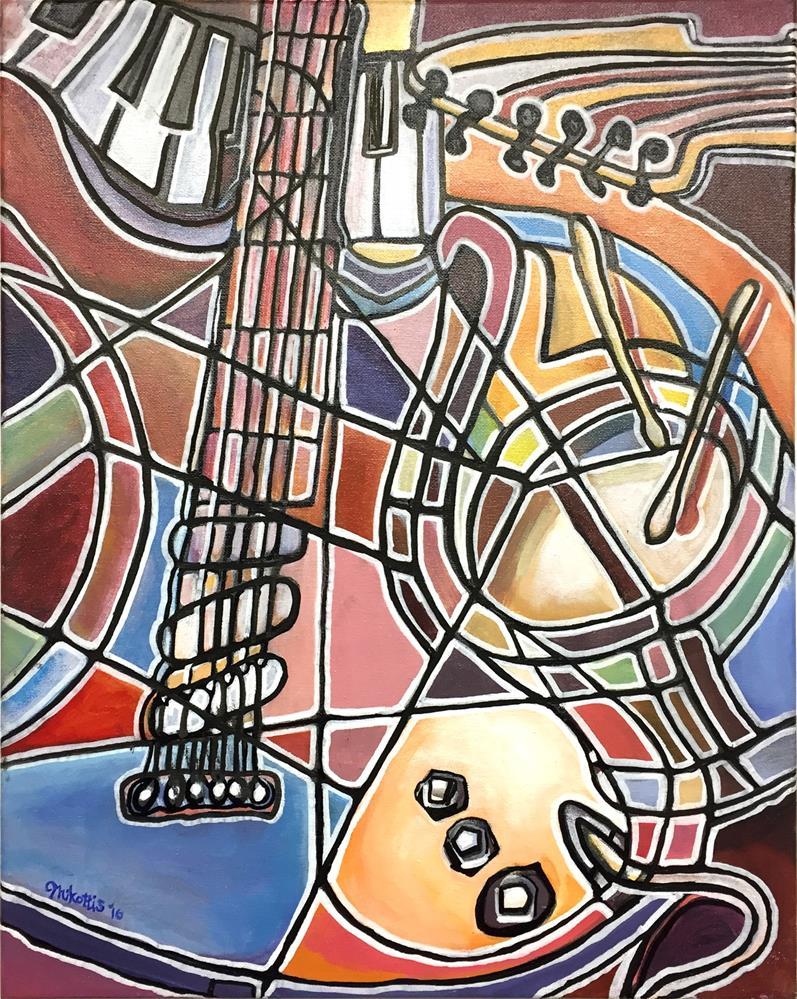 """""""Electric Guitar"""" original fine art by Michael Mikottis"""