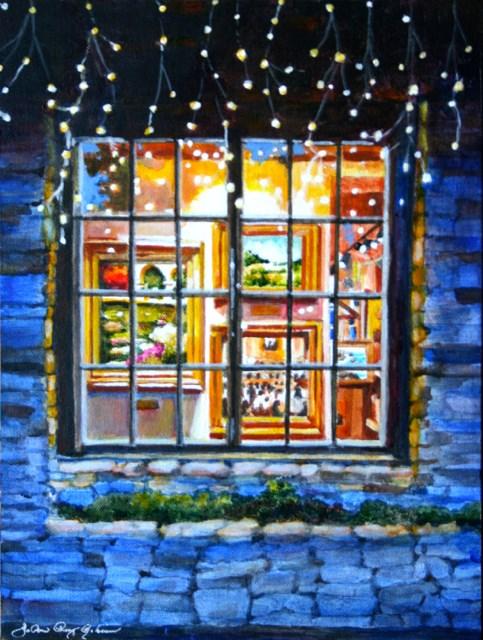 """Night Gallery"" original fine art by JoAnne Perez Robinson"